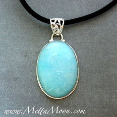 MettaMoon Baby Blue Jade Pendant Necklace $28
