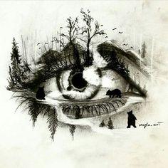 Loneliness tattoos design- eye tattoos - topnailsart tattoo drawings in 201 Dark Art Drawings, Pencil Art Drawings, Art Drawings Sketches, Cool Drawings, Tattoo Drawings, Eye Drawings, Tattoo Art, Fantasy Kunst, Fantasy Art