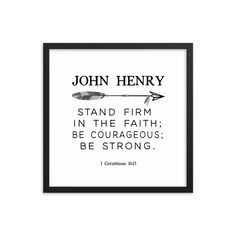 """Custom Boy's name and Bible Verse Art - I LOVE this verse for a nursery! 1 Corinthians """"Stand firm in the faith; be courageous; be strong."""