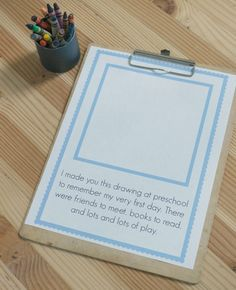 First Day Of Preschool Keepsake FREE Printable FREE printable first day of preschool keepsake and some great tips for how to start the year right! The post First Day Of Preschool Keepsake FREE Printable appeared first on School Ideas. Preschool First Week, First Day Of School Activities, 1st Day Of School, Beginning Of The School Year, In Kindergarten, Kindergarten Graduation, First Day Of Preschool Picture Ideas, September Preschool Themes, Head Start Preschool