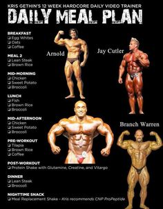 Sample Daily Meal Plan for Bodybuilding - Fit n Workout #BodybuildingDiet,