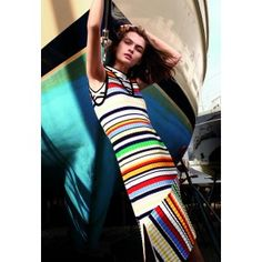 In a stripe mood with #Milly. @millyny #Pop #Stripe #Dress #Sleevelessdress #Sleeveless