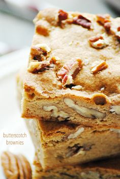 Blonde Brownie Recipe With Butterscotch Chips. Recipe In 2019 Dessert Recipes Desserts . Recipes With Butterscotch Chips, Butterscotch Blondies, Brownie Recipes, Cookie Recipes, Dessert Recipes, Appetizer Recipes, Baking Recipes, Salad Recipes, Dinner Recipes