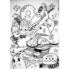 Dibujando las mañanas ☁ #doodle #doodling