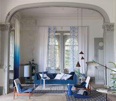 Designers Guild inky Moselle fabrics