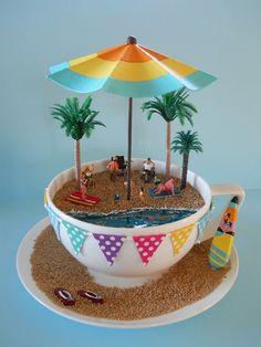 'BEaCH BaRBeCue'  TEaCuP Diorama   ____byLoveHarriet @ www.lilyanddot.com.au