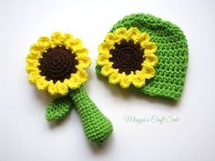 6a277677eb7 Items similar to Sunflower Crochet Toy