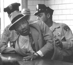 Dr. King handcuffed during the Montgomery Bus Boycott, 1956