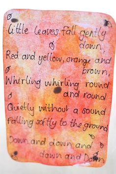Here are some favourite verses we love to sing at Apple Blossom Day Care. I add to this page as I find new favourites. Morning verses ...