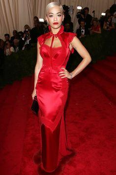 Rita Ora wearing Tom Ford to the 2015 Met Gala