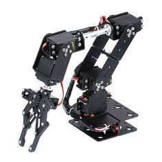6 DOF Robot Manipolatore Braccio Meccanico Della Lega del Metallo Morsetto Claw Kit MG996R DS3115 per Arduino Robot Educazione