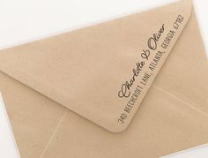 Custom return address stamp for your holiday gifts and stationery.