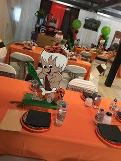 Melanie S's Birthday / Flintstones - Photo Gallery at Catch My Party Twin Birthday Parties, Baby Boy 1st Birthday Party, Baby Party, Christening Themes, Pebbles And Bam Bam, Baby Boy Shower, Party Ideas, Gender Reveal, Disney