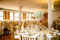 Gold Wedding Reception at Windows on Washington Downtown St. Louis Wedding…