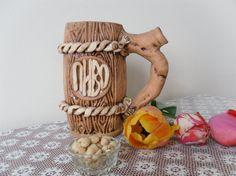 Pottery Beer Mug Clay Ceramic Big Mug Large Mug Clay Tankard