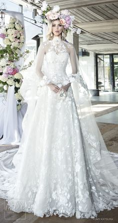 """Yumi Katsura Spring 2019 Wedding Dresses """"Life Is A Garden"""" Bridal Collection - HOPE wedding dress WITH CAPE 