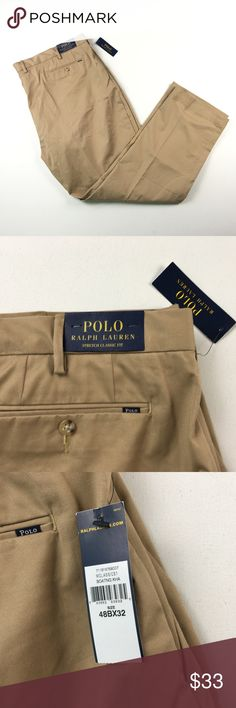 f5addddc8bff83 NEW Polo Ralph Lauren Mens Khaki Slacks Pants 48 B
