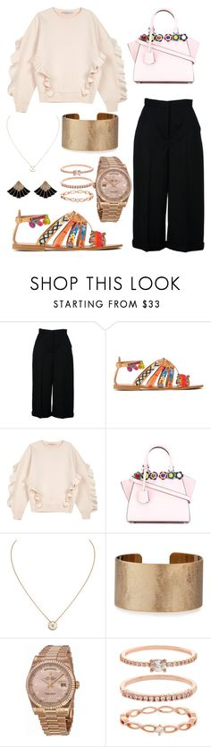 """Kinda casual and classy too👌🏼"" by maadwee ❤ liked on Polyvore featuring Alexander McQueen, Elina Linardaki, STELLA McCARTNEY, Fendi, Cartier, Panacea, Rolex and Accessorize"
