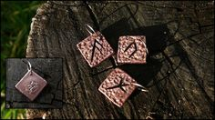 Some tiny (1x1cm) copper runes.