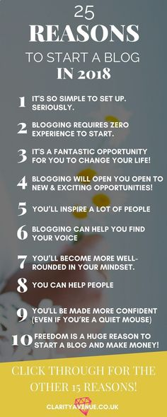 So many people are telling you how to start a blog (including me) but do you know why you should start your own blog? Read 25 Reasons why you need to start a blog #blogging #bloggingtips #entrepreneur #c-ave #blogger #beginnerbloggerhttps://www.clarityavenue.co.uk/why-have-a-blog/