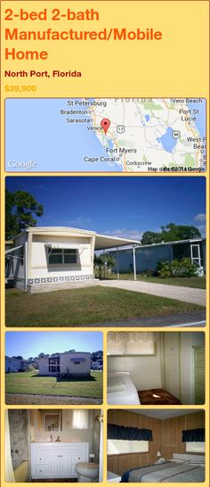 2 Bed Bath Manufactured Mobile Home In North Port Florida 49999 PropertyForSale RealEstate Magic Properties 898