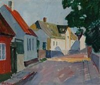 View from Allinge by Olaf Rude  1925