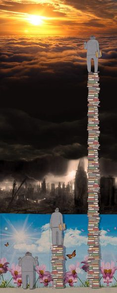 Reading is VITAL! This picture captures a very interesting view on the overall concept of #knowledge.