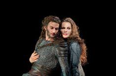 """Jonas Kaufmann as Siegmund and Eva-Maria Westbroek as Sieglinde in Wagner's """"Die Walkure"""""""