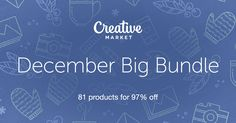 Check out December Big Bundle on Creative Market! Includes tons of cool fonts, vectors, graphics and more! Graphic Design Projects, Graphic Design Inspiration, Tool Design, Web Design, Packaging Design, Branding Design, Tema Wordpress, Typography Design, Lettering
