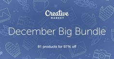 Check out December Big Bundle on Creative Market \ $39 instead of $1427!!  Offer valid until December 12th, 2016