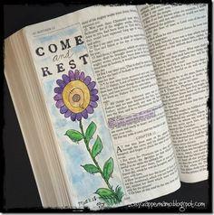 Bible Art Journaling Matt 11-28