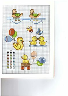 This Pin was discovered by Ver Cross Stitch For Kids, Cross Stitch Boards, Cross Stitch Love, Cross Stitch Animals, Cross Stitch Designs, Cross Stitch Patterns, Baby Sweater Knitting Pattern, Knitting Charts, Cross Stitching