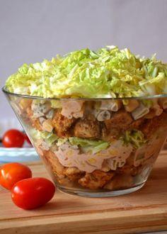 Zdjęcie: Sałatka gyros Pork Recipes, Salad Recipes, Cooking Recipes, Healthy Recipes, B Food, Appetisers, Coleslaw, Salads, Food And Drink