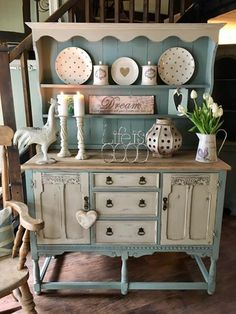 4 Miraculous Cool Tips: Rustic Shabby Chic Ideas shabby chic kitchen window.Shabby Chic House Colour Schemes shabby chic wardrobe home.Shabby Chic Vanity To Get. Shabby Chic Cabinet, Shabby Chic Dresser, Shabby Chic Furniture, Decor, Furniture, Diy Home Decor, Painted Furniture, Shabby Chic Homes, Home Decor