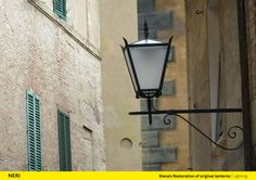 Siena (Italy), Street lighting, Design, Lantern.  http://www.neri.biz/en/Company/News-and-events/Siena-a-thousand-and-one-lights #Light #Design #Urbanlight #Lamps #Structure #Siena #Madeinitaly #Luce #Lighting #Ispiration #NeriSpa #Followus #Follower
