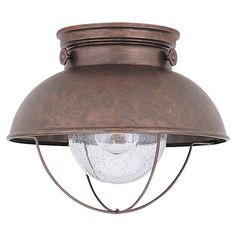 Sea Gull Lighting 8869 Outdoor Close To Ceiling Light At Lowe S Canada Find Our Selection Of Flush Mount The Lowest Price