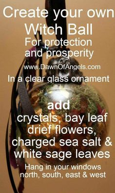 Create a witch ball Just In Case, Just For You, Witch Board, Wiccan Crafts, Wiccan Decor, Eclectic Witch, Magick Spells, Practical Magic, Book Of Shadows