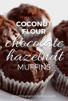 These coconut flour chocolate hazelnut muffins can be sweetened mostly with stevia, so they help you get your chocolate fix with a bare minimum of added sugar.