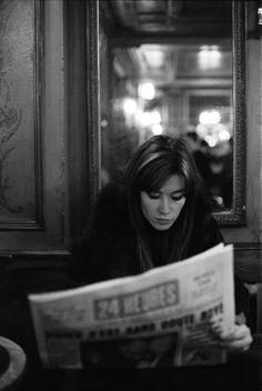 Françoise Hardy in Paris, just header Francoise Hardy, Isabelle Adjani, Journal Photo, We Heart It, Chelsea Girls, Black White, Portraits, Look Vintage, Tumblr
