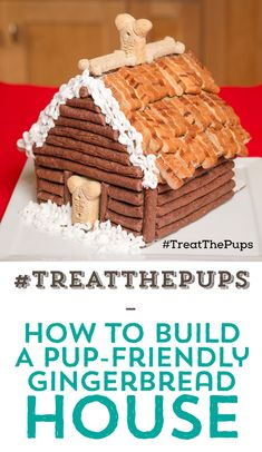 #TreatThePups | How To Build A Pup Friendly Gingerbread House! :)