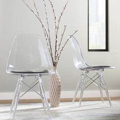 Wade Logan Mohnton Clear Side Chair & Reviews | Wayfair