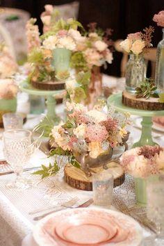 sage and peach wedding pinterest | Peach wedding