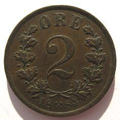 Noorwegen 2 øre 1884
