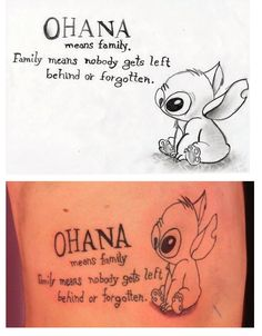 OHANA, Family, Stitch, Tattoo Idea, Color?