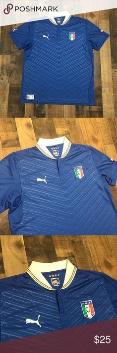 dd6ff754b81 Puma Italia Italy Soccer Jersey Puma Italia Italy Soccer Jersey Size  Fits  Like XL
