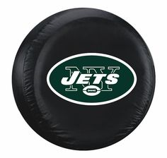 New York Jets Black Tire Cover - Size Large (backorder)