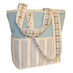 Spa Blu Tote Diaper Bag