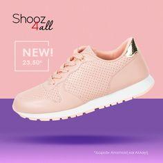 Γυναικεία sneakers σε ροζ χρώμα #shooz4all #roz #sneakers