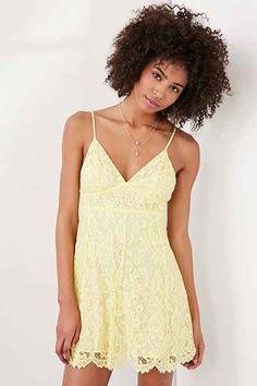 Kimchi Blue Valentina Empire Lace Mini Dress - Urban Outfitters