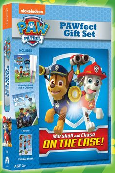 Grab this PAWfect PAW Patrol Gift Set at Walmart. Includes a PAW Patrol DVD and activity pack with coloring, a poster and stickers!